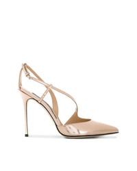 Zapatos de Tacón de Cuero Dorados de Sergio Rossi