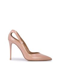 Zapatos de tacón de cuero en beige de Aquazzura
