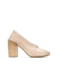 Zapatos de tacón de cuero en beige de Marsèll