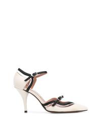 Zapatos de tacón de cuero en blanco y negro de L'Autre Chose