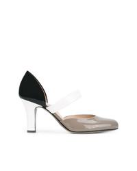 Zapatos de tacón de cuero en multicolor de Bottega Veneta