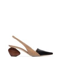 Zapatos de tacón de cuero en multicolor de Rejina Pyo