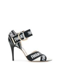 Zapatos de tacón de cuero estampados en negro y blanco de Jimmy Choo