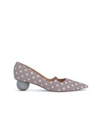 Zapatos de tacón de cuero estampados grises de Paul Andrew