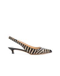 Zapatos de tacón de cuero estampados negros de Francesco Russo