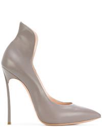 Zapatos de Tacón de Cuero Grises de Casadei