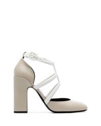 Zapatos de tacón de cuero grises de Fabrizio Viti