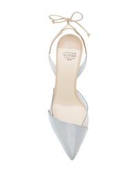 Zapatos de Tacón de Cuero Grises de Francesco Russo