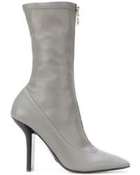 Zapatos de tacón de cuero grises de Stella McCartney