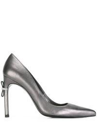 Zapatos de Tacón de Cuero Grises de Stuart Weitzman