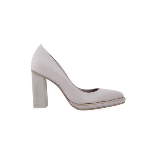 Zapatos de Tacón de Cuero Grises de Studio Chofakian