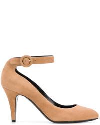 Zapatos de Tacón de Cuero Marrón Claro de Casadei