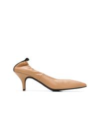 Zapatos de tacón de cuero marrón claro de Joseph