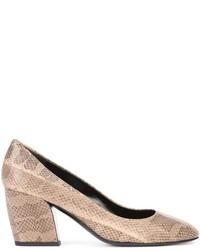 Zapatos de Tacón de Cuero Marrón Claro de Pierre Hardy
