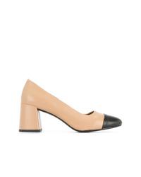 Zapatos de tacón de cuero marrón claro de Senso