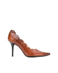Zapatos de Tacón de Cuero Marrónes de Chloé