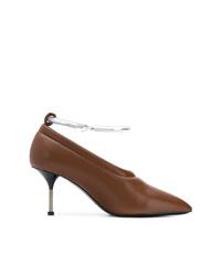 Zapatos de Tacón de Cuero Marrónes de Jil Sander