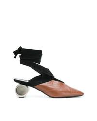 Zapatos de Tacón de Cuero Marrónes de JW Anderson
