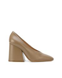 Zapatos de Tacón de Cuero Marrónes de Maison Margiela