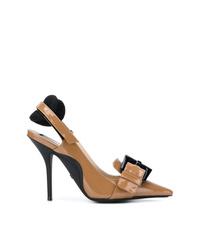 Zapatos de Tacón de Cuero Marrónes de N°21