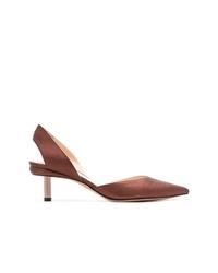 Zapatos de Tacón de Cuero Marrónes de Nicholas Kirkwood