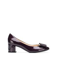 Zapatos de tacón de cuero morado oscuro de Högl