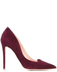 Zapatos de Tacón de Cuero Morado Oscuro de Rupert Sanderson