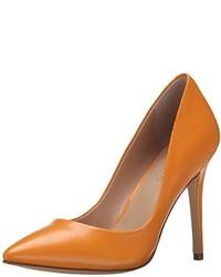 Zapatos de Tacón de Cuero Naranjas de Charles by Charles David