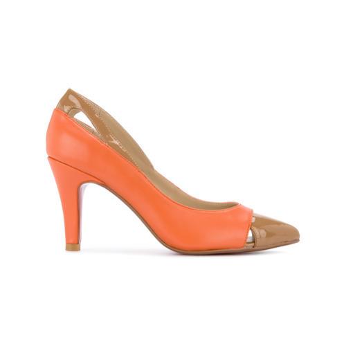 De Zapatos Cuero Naranjas Loveless Tacón hxsdtCBroQ