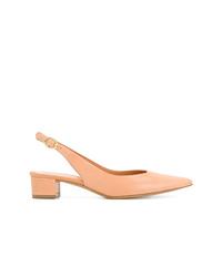Zapatos de tacón de cuero naranjas de Mansur Gavriel