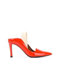 Zapatos de tacón de cuero naranjas de Proenza Schouler