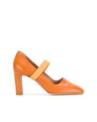 Zapatos de Tacón de Cuero Naranjas de Santoni