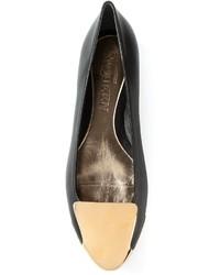 Zapatos de Tacón de Cuero Negros y Marrón Claro de Alexander McQueen