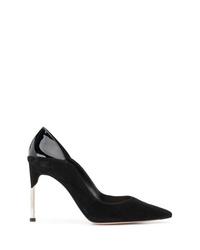 Zapatos de tacón de cuero negros de Alexander McQueen