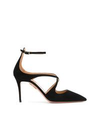 Zapatos de Tacón de Cuero Negros de Aquazzura