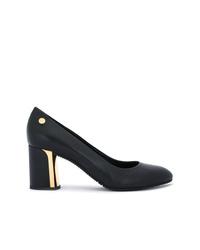 Zapatos de tacón de cuero negros de Baldinini
