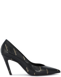 Zapatos de tacón de cuero negros de Balenciaga