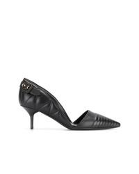 Zapatos de tacón de cuero negros de Burberry