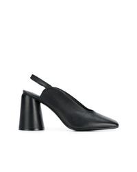 Zapatos de tacón de cuero negros de Castaner