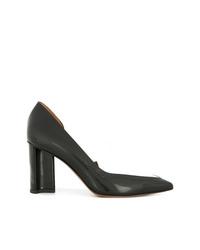 Zapatos de tacón de cuero negros de Clergerie