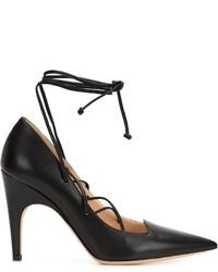 Zapatos de tacón de cuero negros de Derek Lam