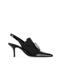Zapatos de tacón de cuero negros de Dorateymur