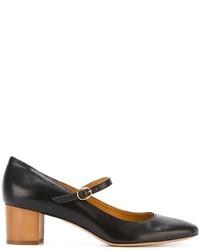 Zapatos de tacón de cuero negros de Etoile Isabel Marant