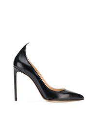 Zapatos de tacón de cuero negros de Francesco Russo