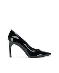 Zapatos de tacón de cuero negros de Geox