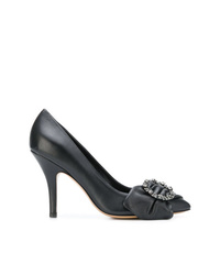 Zapatos de tacón de cuero negros de Isabel Marant