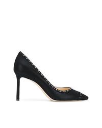 Zapatos de tacón de cuero negros de Jimmy Choo