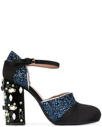 Zapatos de Tacón de Cuero Negros de Marni