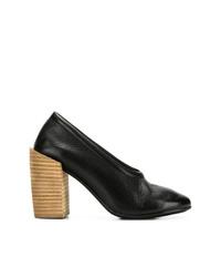 Zapatos de tacón de cuero negros de Marsèll