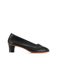 Zapatos de tacón de cuero negros de Martiniano
